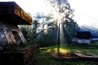 Sunrise over the Tombs, Sumba Indonesia.